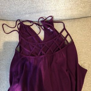 Super cute purple summer top!
